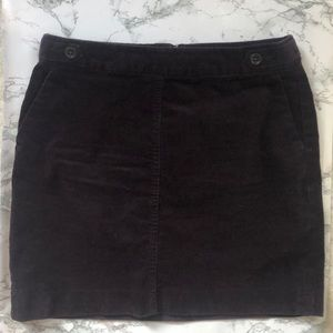 Banana Republic dark purple corduroy mini skirt